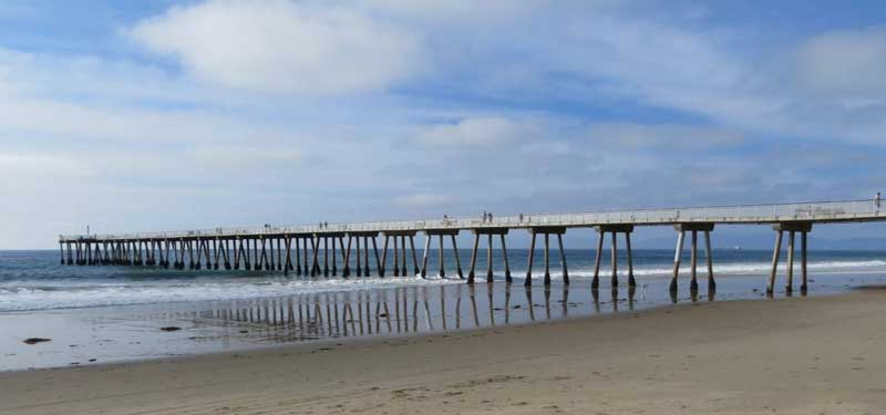 Hermosa City Beach In California